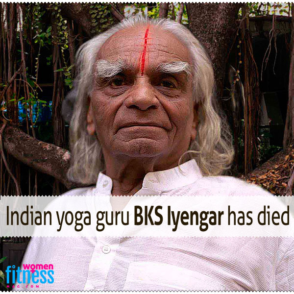 Indian yoga guru BKS Iyengar has died