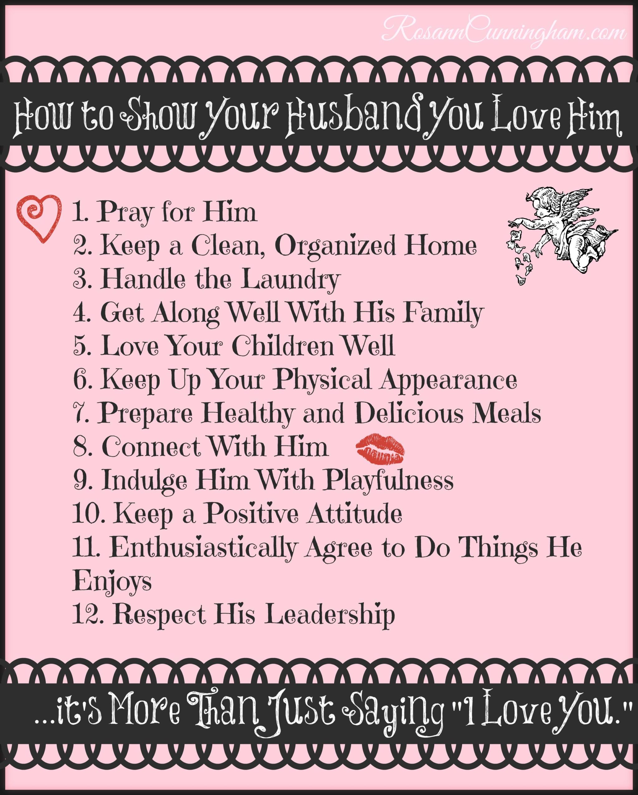 Remind Your Husband You Love Him