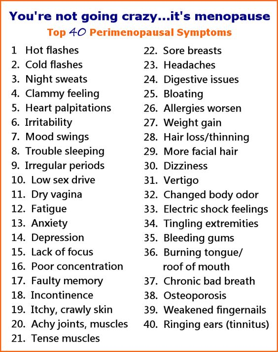 Perimenopausal symptoms