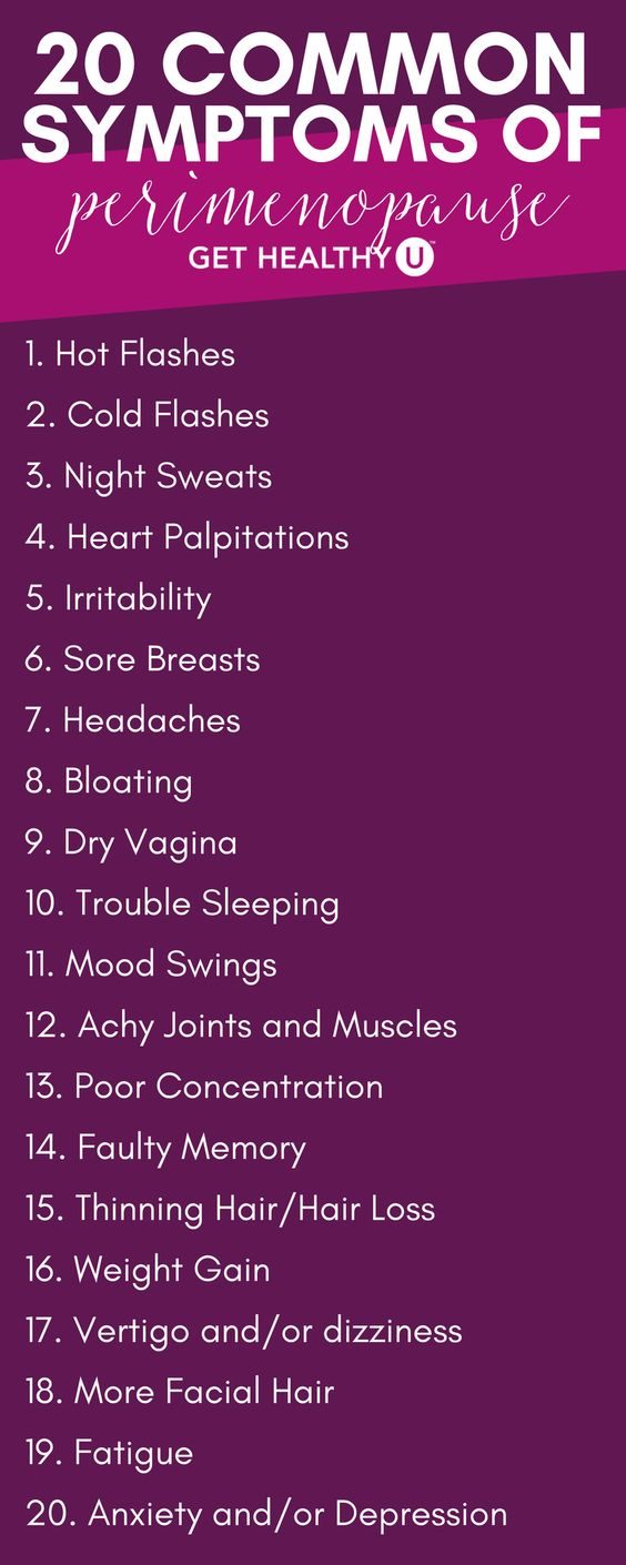 common sypmtoms of perimenopause