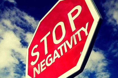 Image result for stop negativity