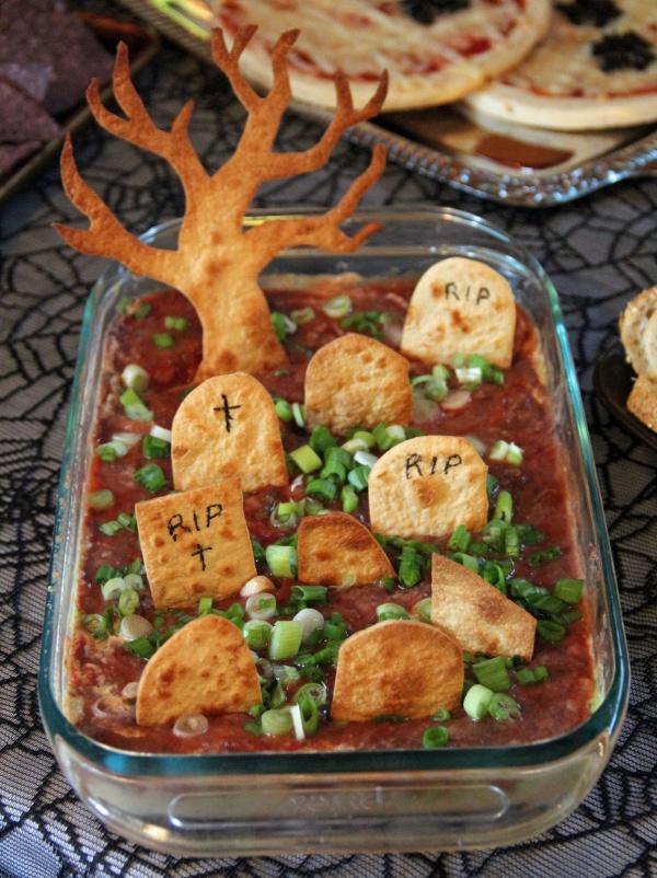 Graveyard Dip Creative Halloween Appetizers