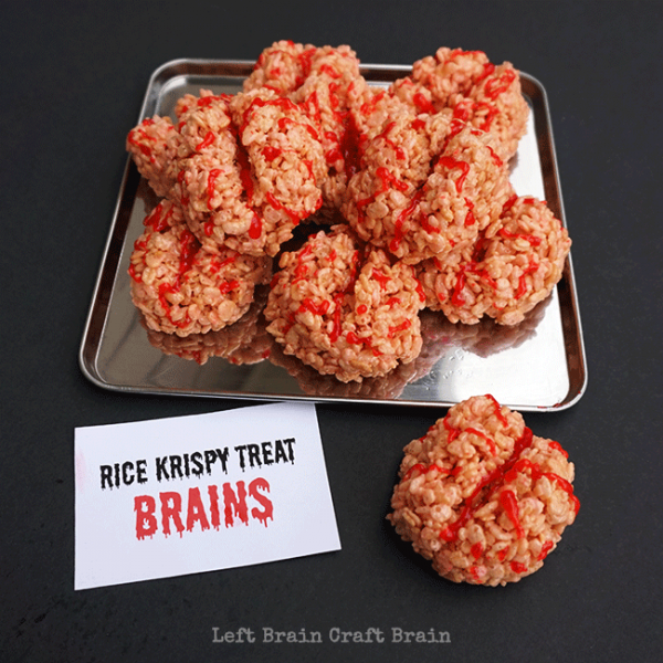 Rice Krispy Treat Brains Creative Halloween Appetizers