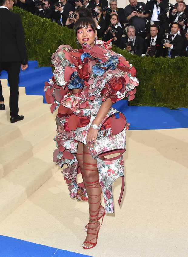 "Rihanna attends the ""Rei Kawakubo/Comme des Garcons:"