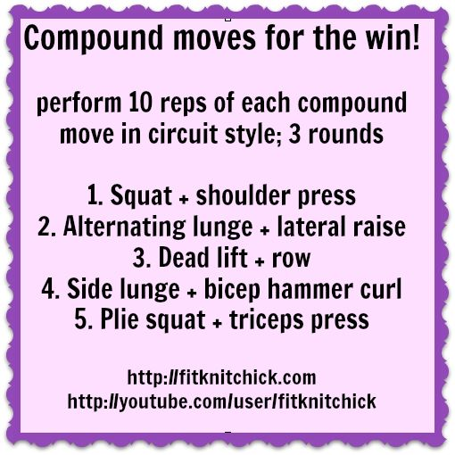 Compound Exercises for Beginners that use Multiple Muscles