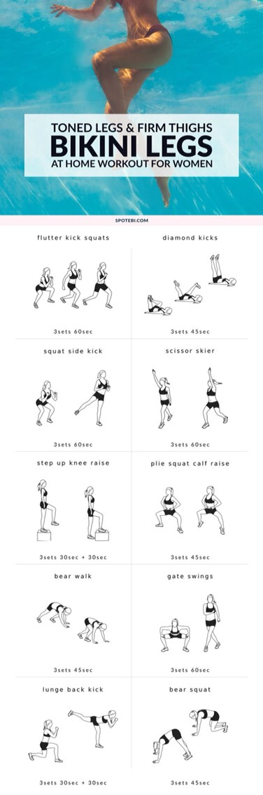 Bikini legs for home workout for women