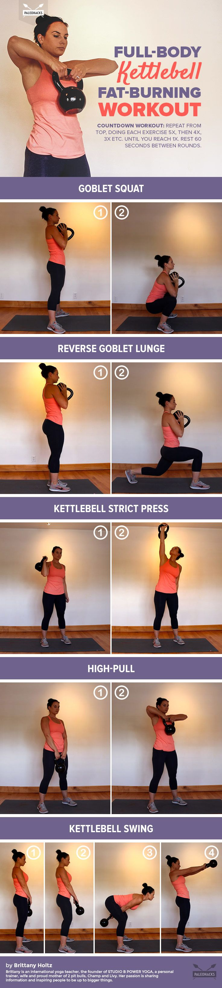 Full Body Kettlebell Fat Burning Workout