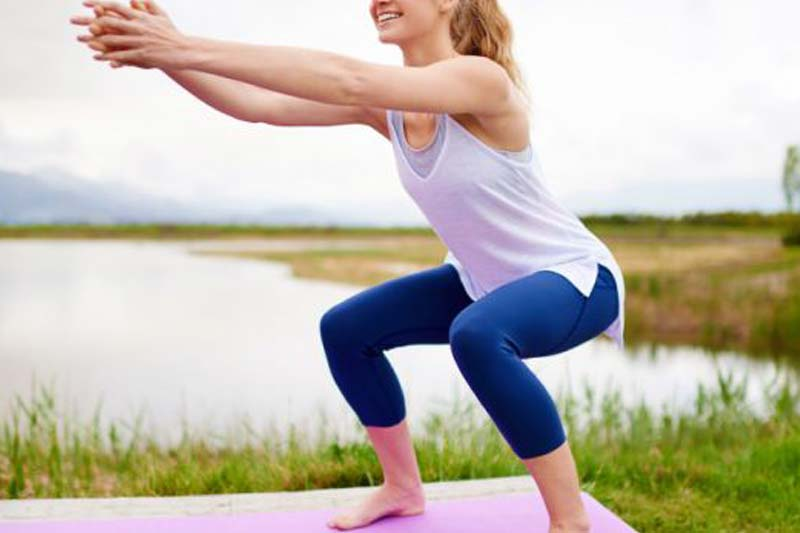 Squats - Busy mom workout schedule