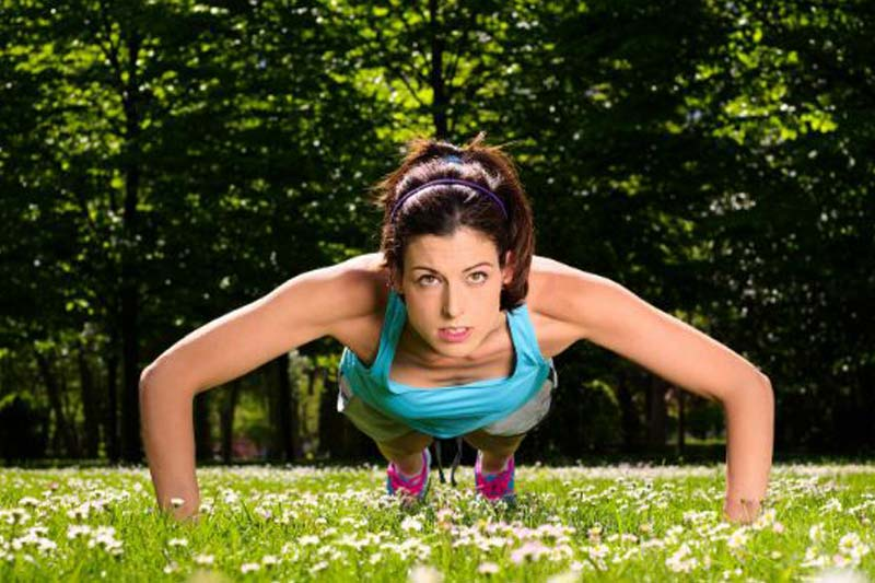 Push-Ups - Home exercise routine for beginners.