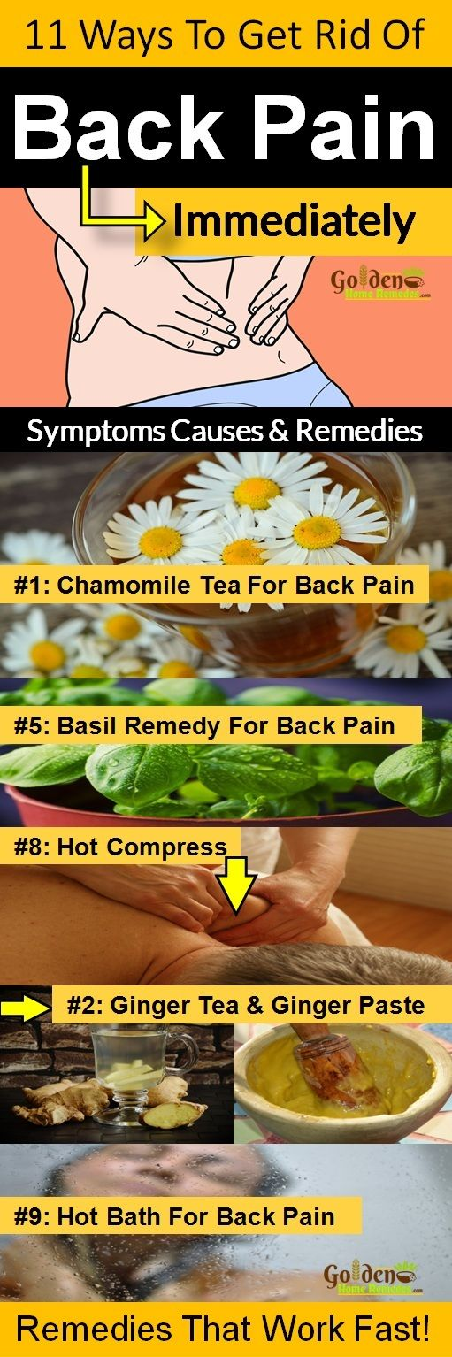 Cures and causes of back pain in female