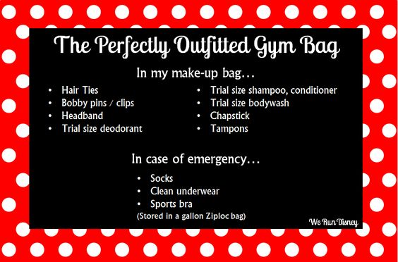 perfectly outfitted gym bag