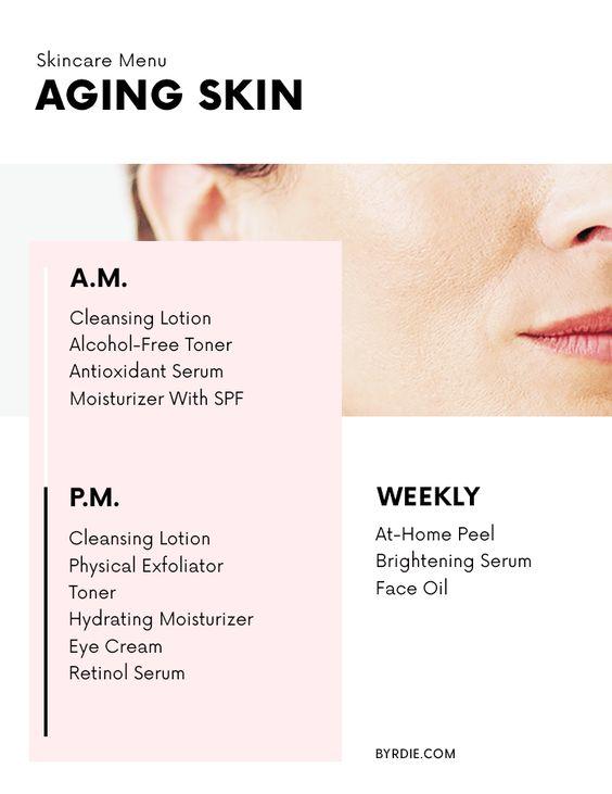 skincare menu for aging skin