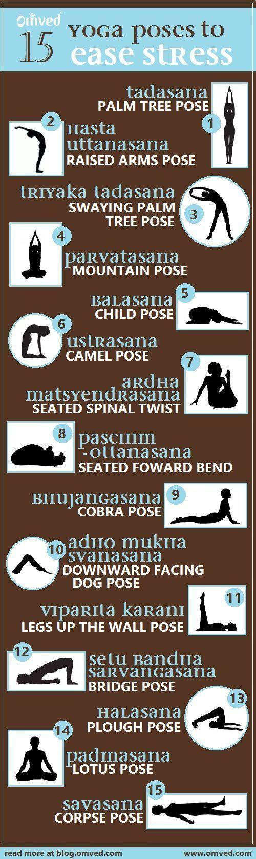 yoga poses to ease stress