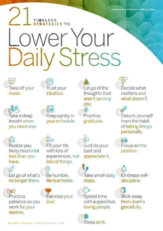 Lower your daily stress
