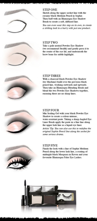 Seductive eye makeup