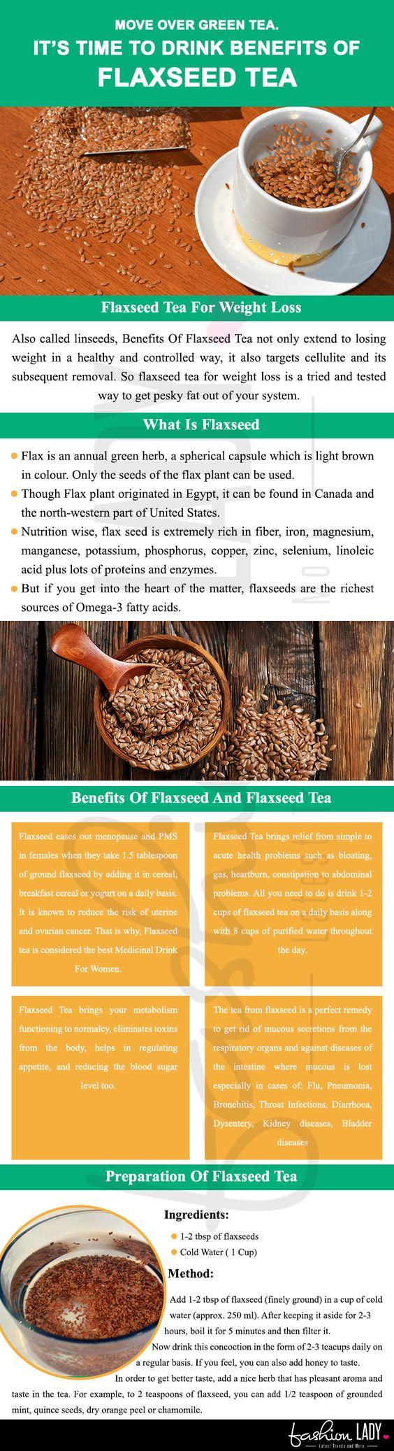 benefits of flaxseed tea