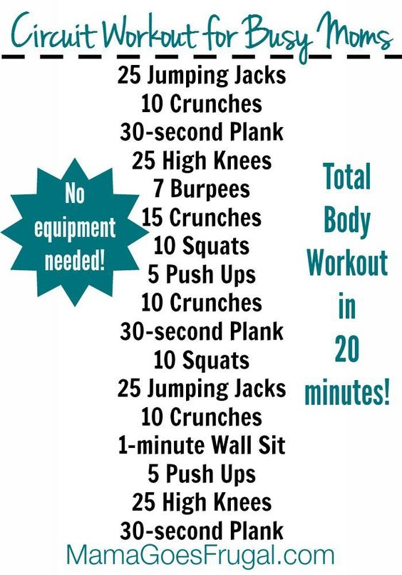 circuit workout for busy women