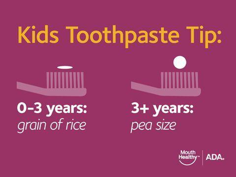 kids toothpaste tip