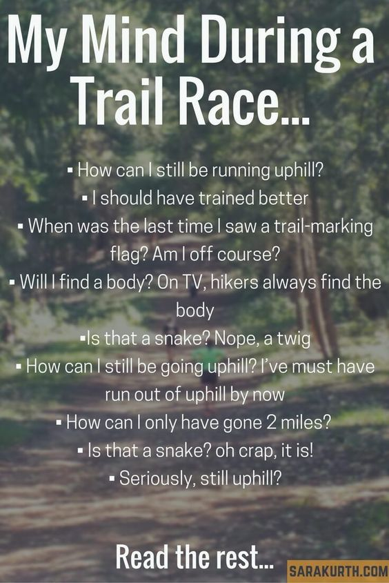 mind during trail race
