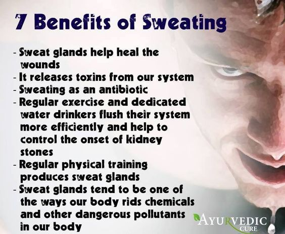 benefits of sweating