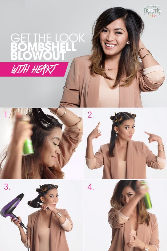 get the look of bomshell blowout