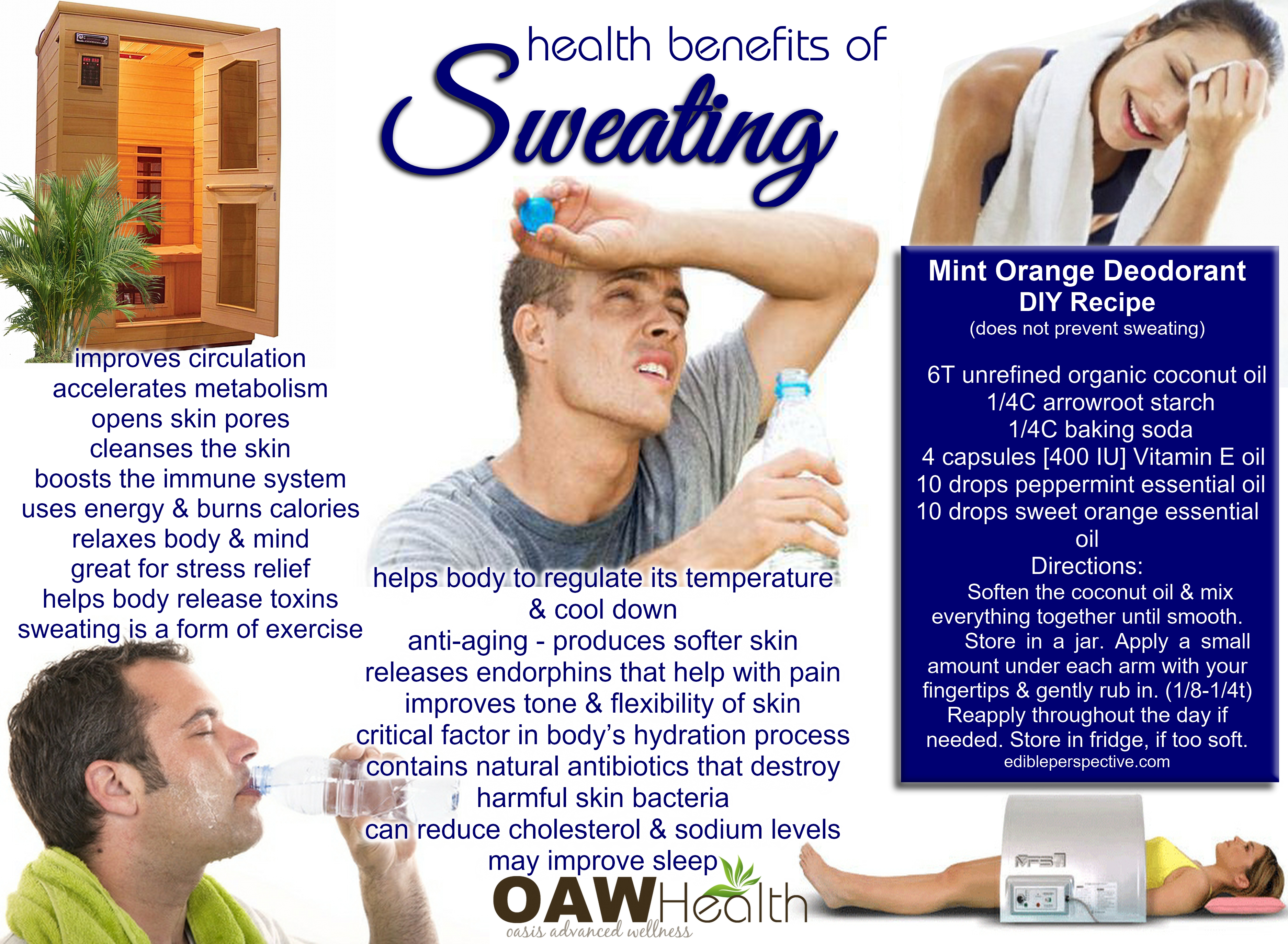 health benefits of sweating 1