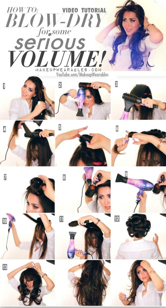 how to blow dry for some serious volume