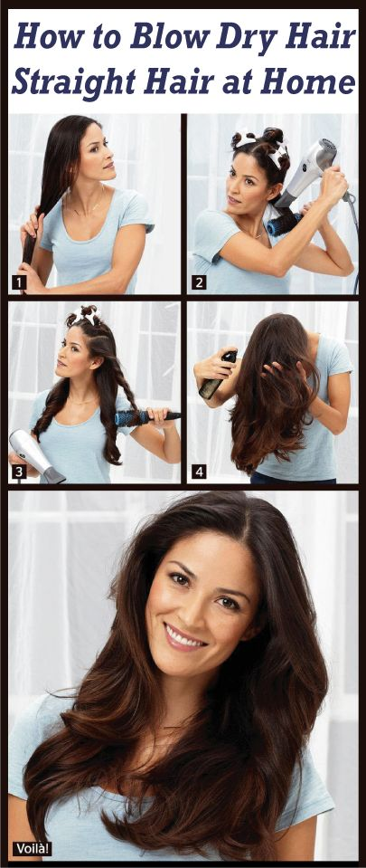 how to blow dry hair straight hair at home 2