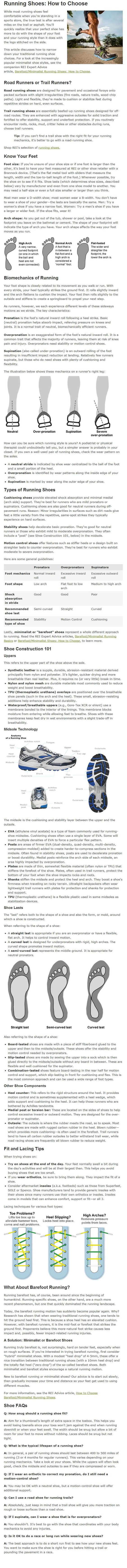 running shoes how to choose