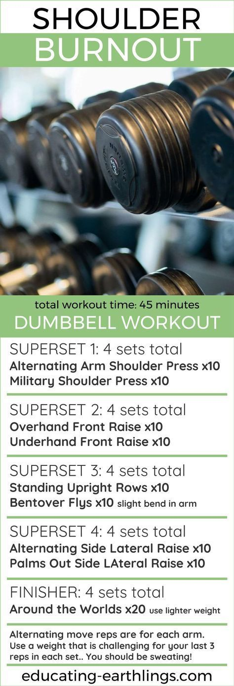 shoulder burnout dumbbell workout strength training for women
