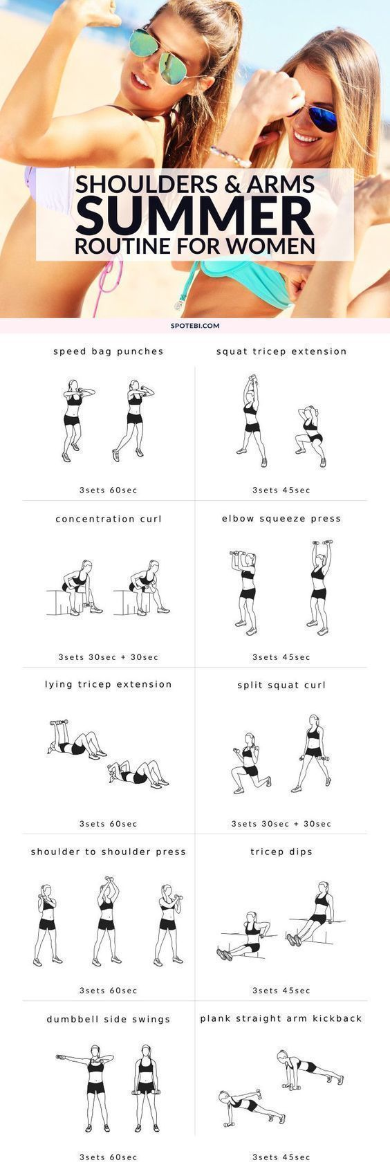 shoulders and arms summer routine for women strength training