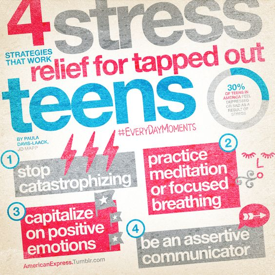 stress relief for tapped out teens