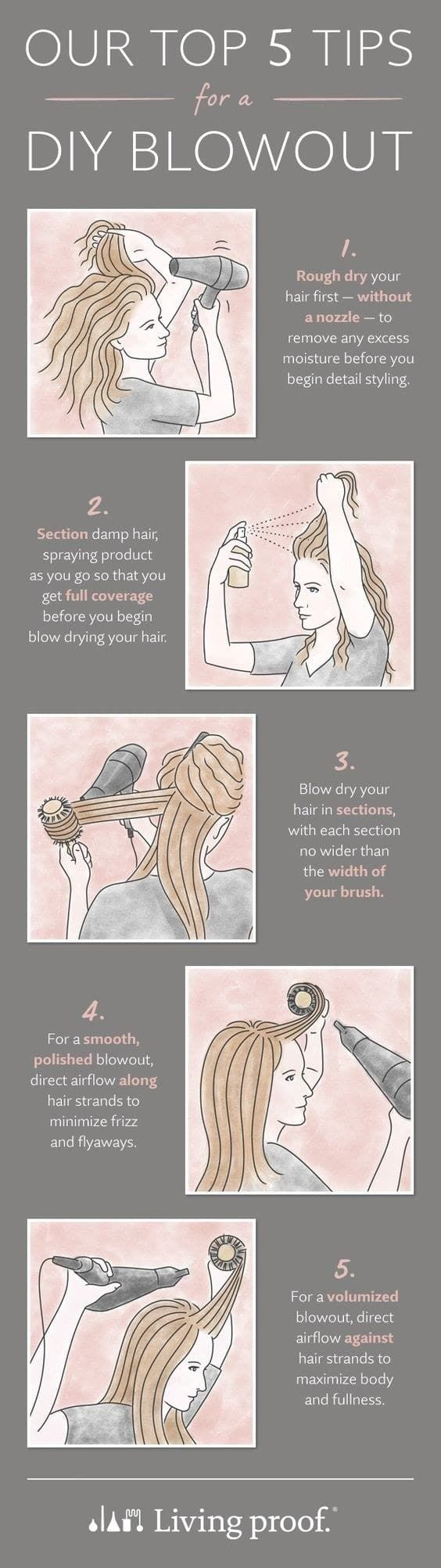top 5 tips for a blowout