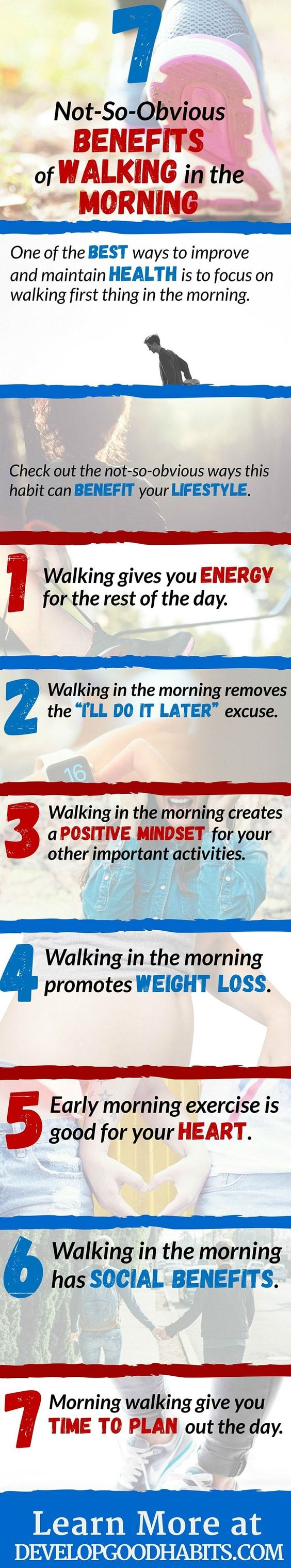 Benefits of walking in the morning