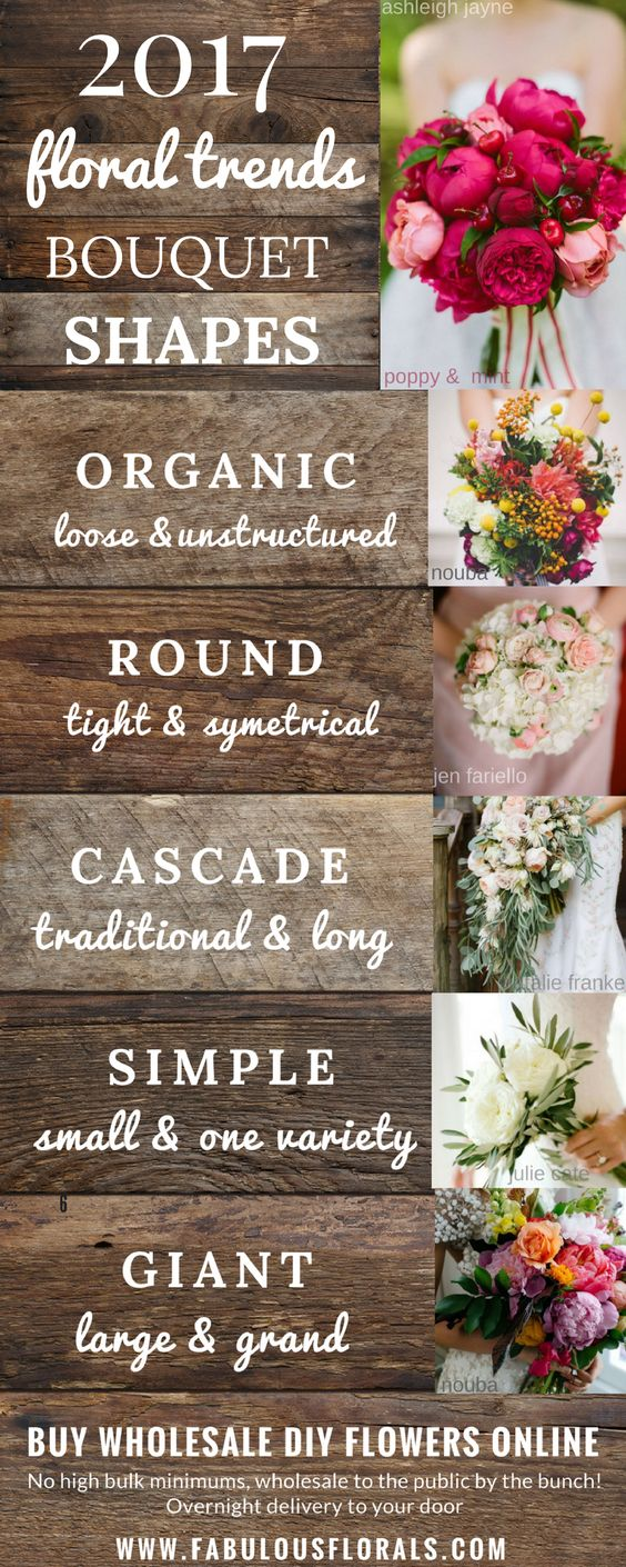 Floral trends Bouquet shapes