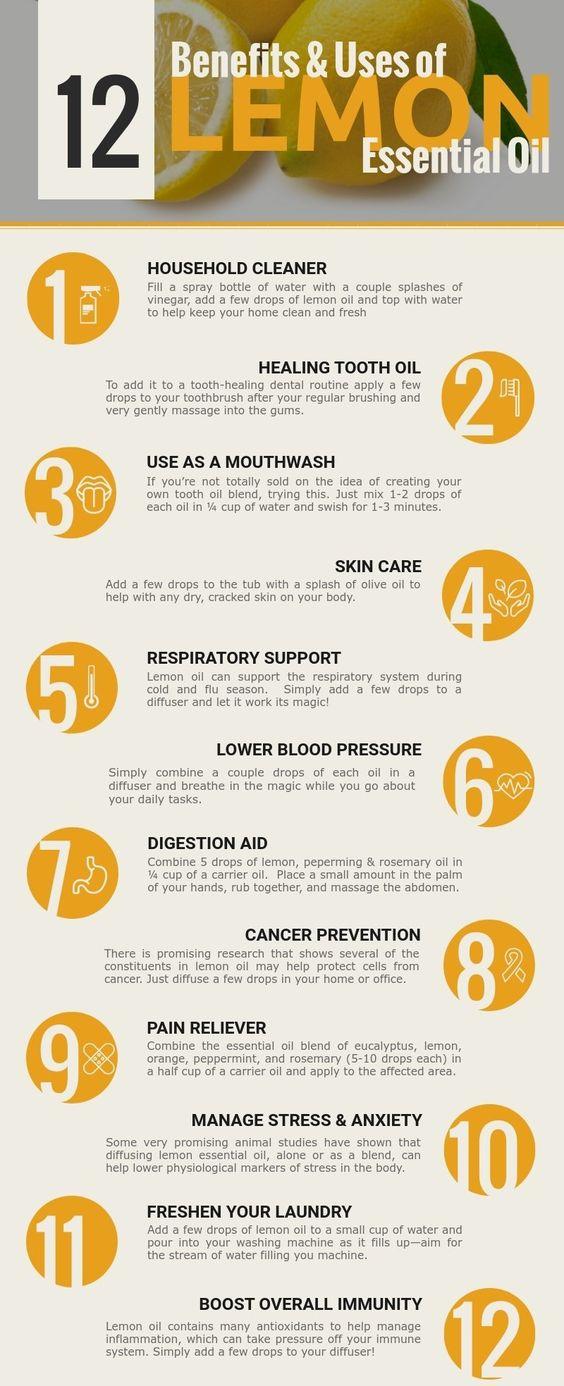 lemon essential oil health benefits
