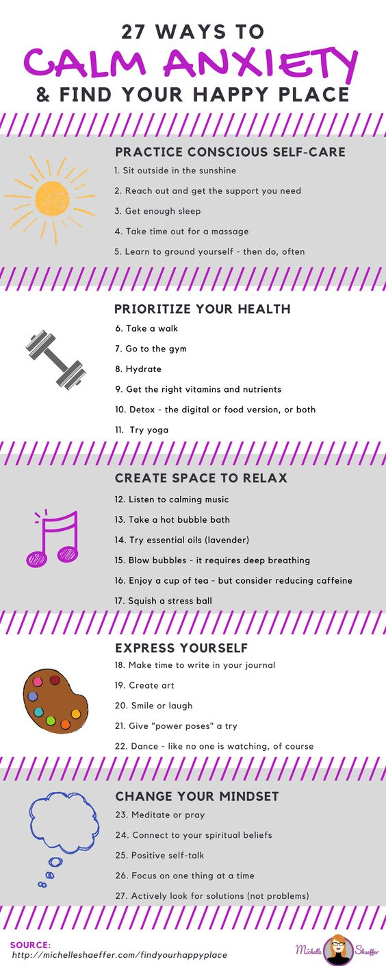 ways to calm anxiety