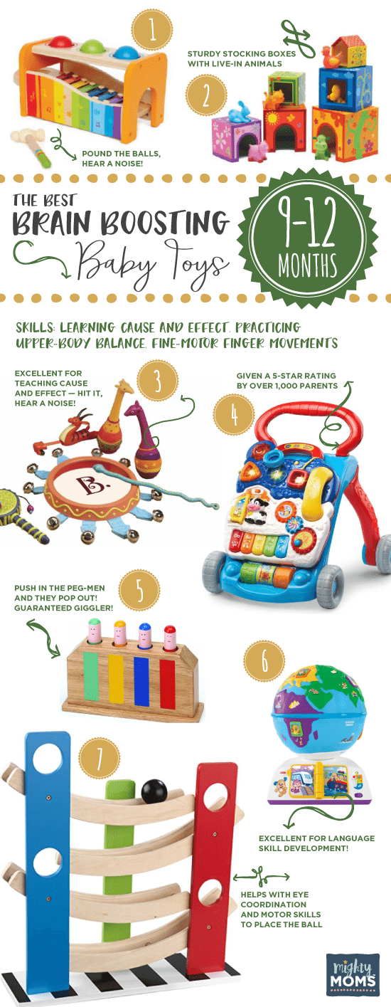 Brain boosting baby toys 9 to 12 months