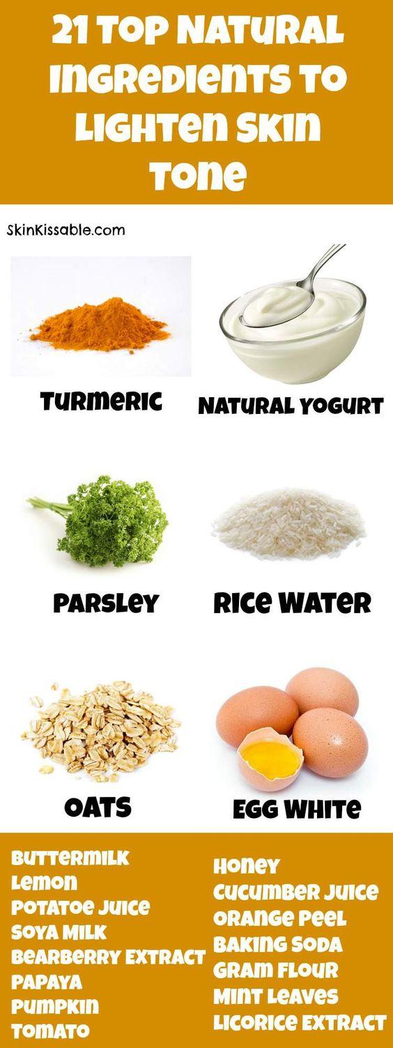 Top natural ingredients to lighten skin tone