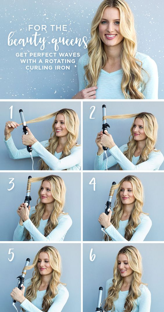 get perfect waves with a rotating curling iron