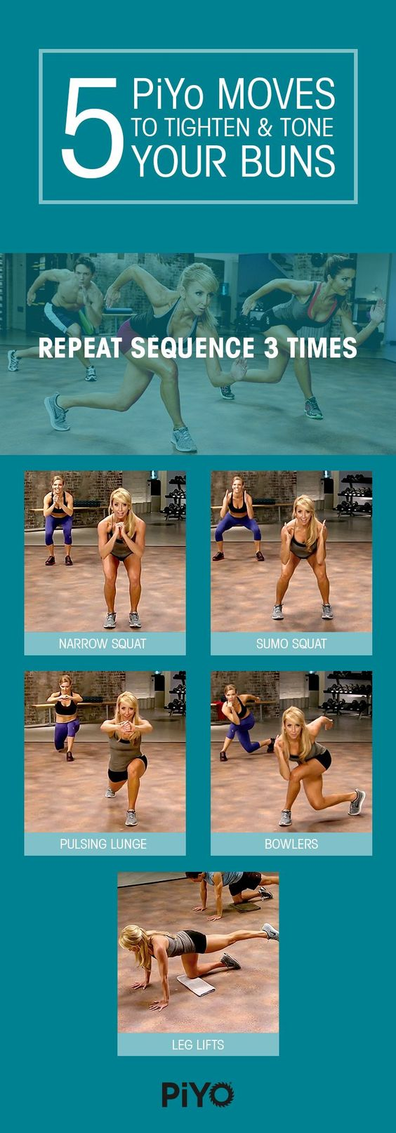 more PiYo moves to tighten and tone your Buns