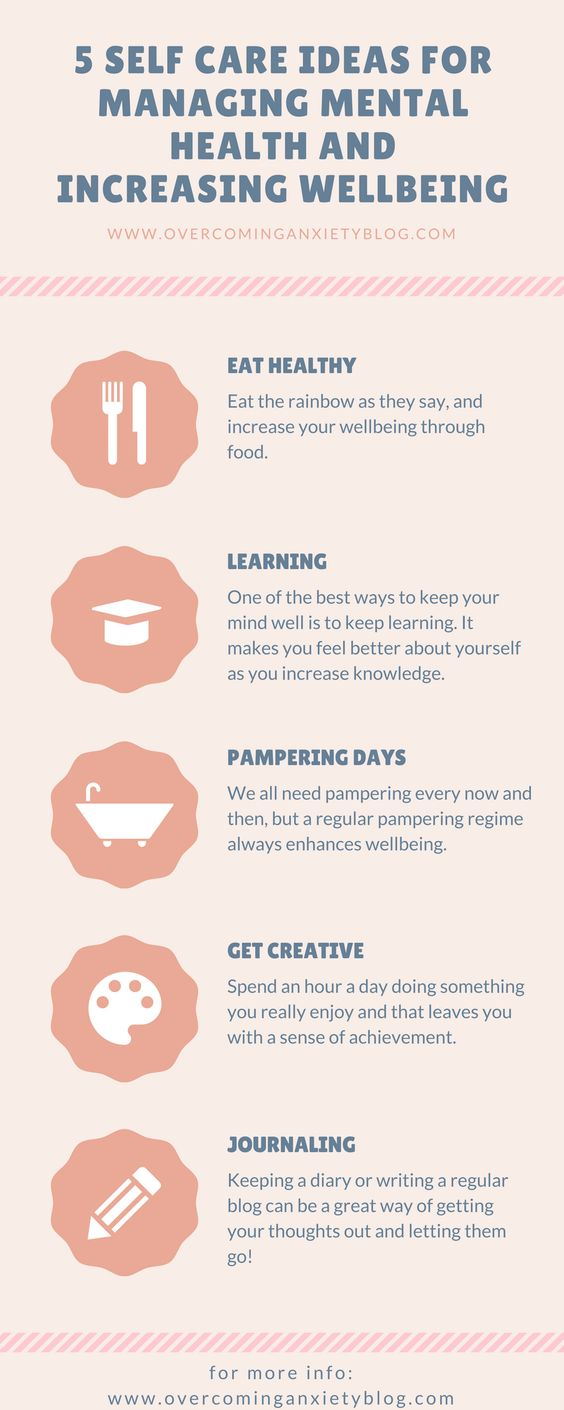 self care ideas for managing mental health and increasing wellbeing
