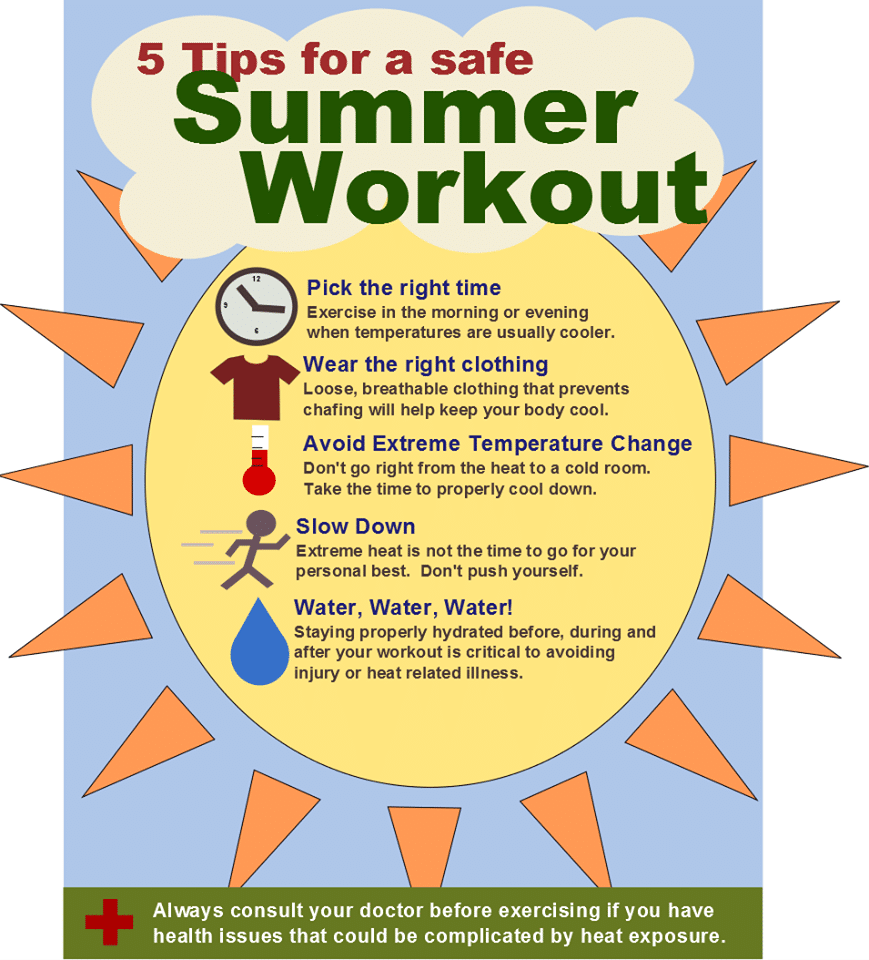 tips for a safe summer workout