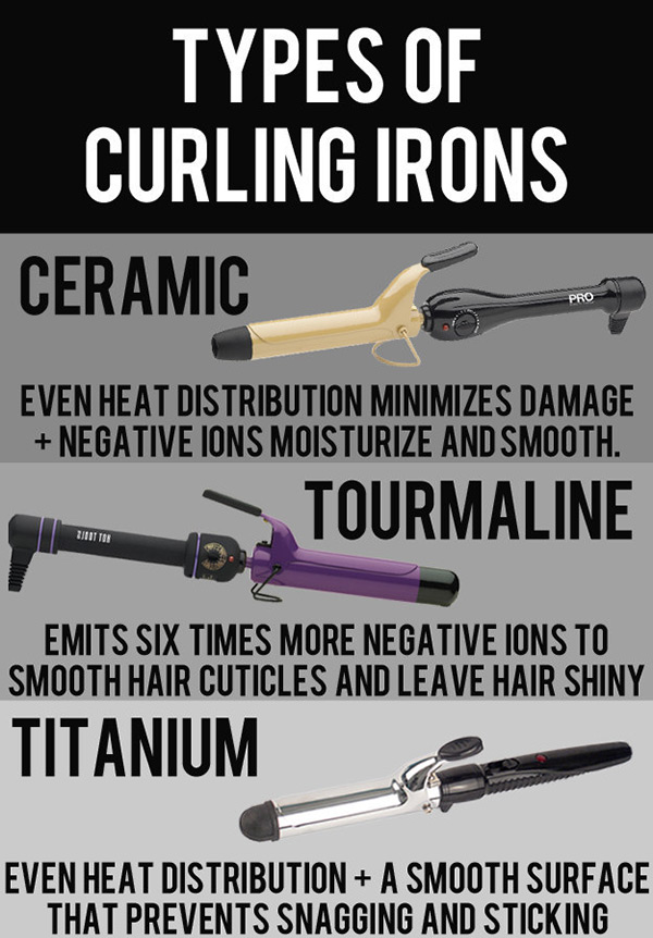 types of curling iron