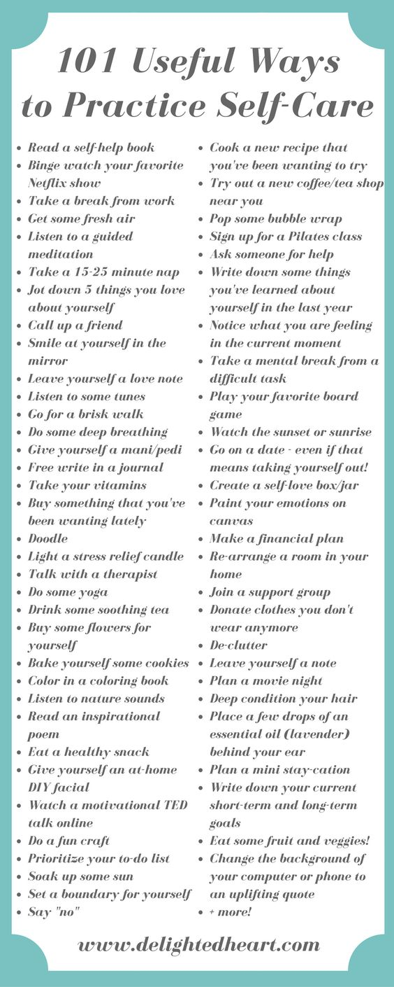useful ways to practice self care