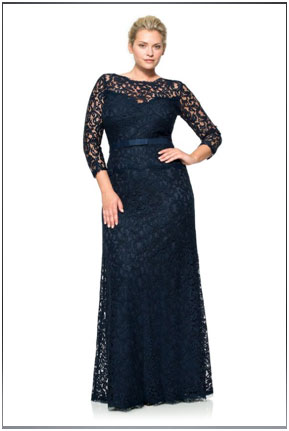 Full Lace ¾-Sleeved Dress