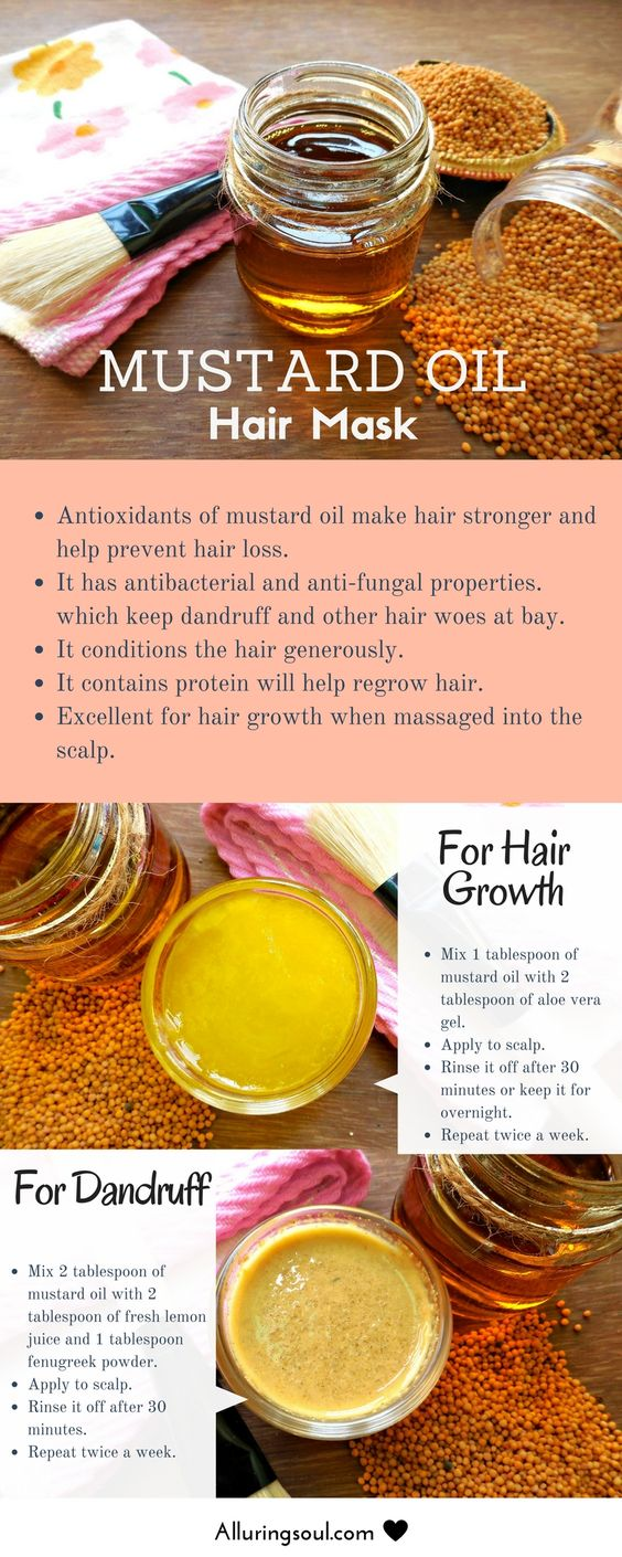 Mustard Oil for Hair Growth and Dandruff