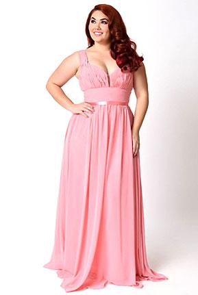 Plus Size Chiffon Gown