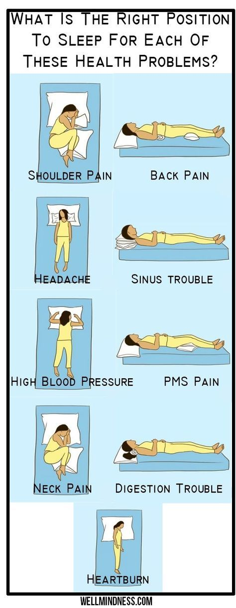 Right position to sleep for health problems