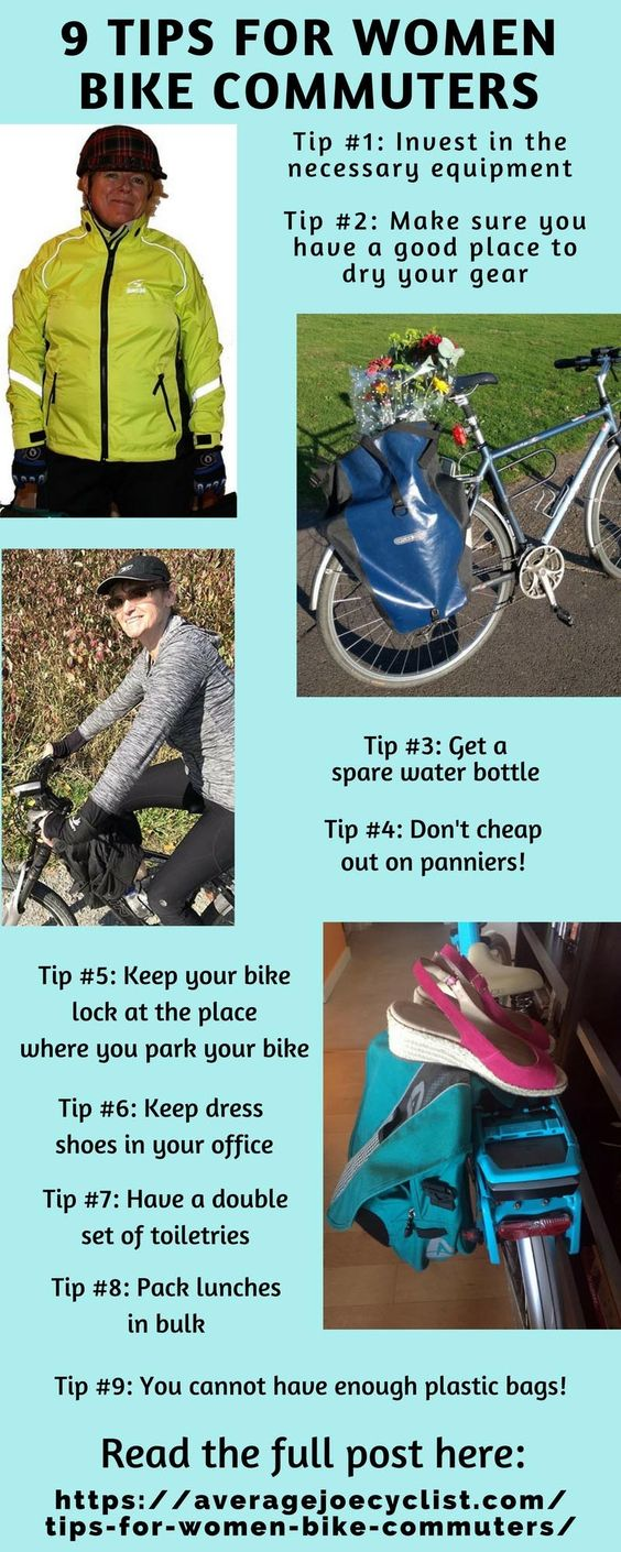 Tips for women bike commuters